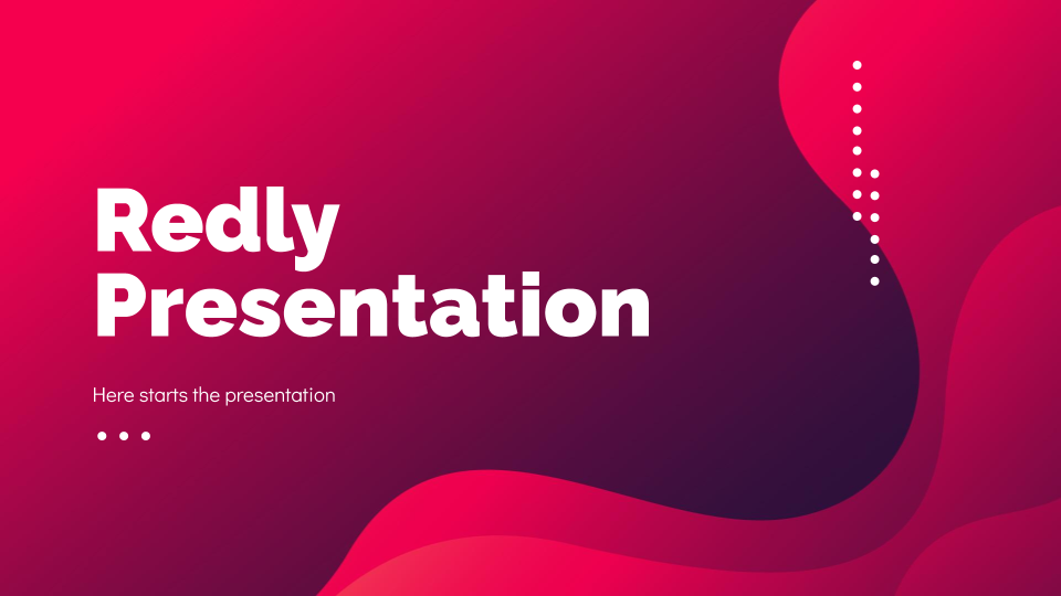 Redly presentation template