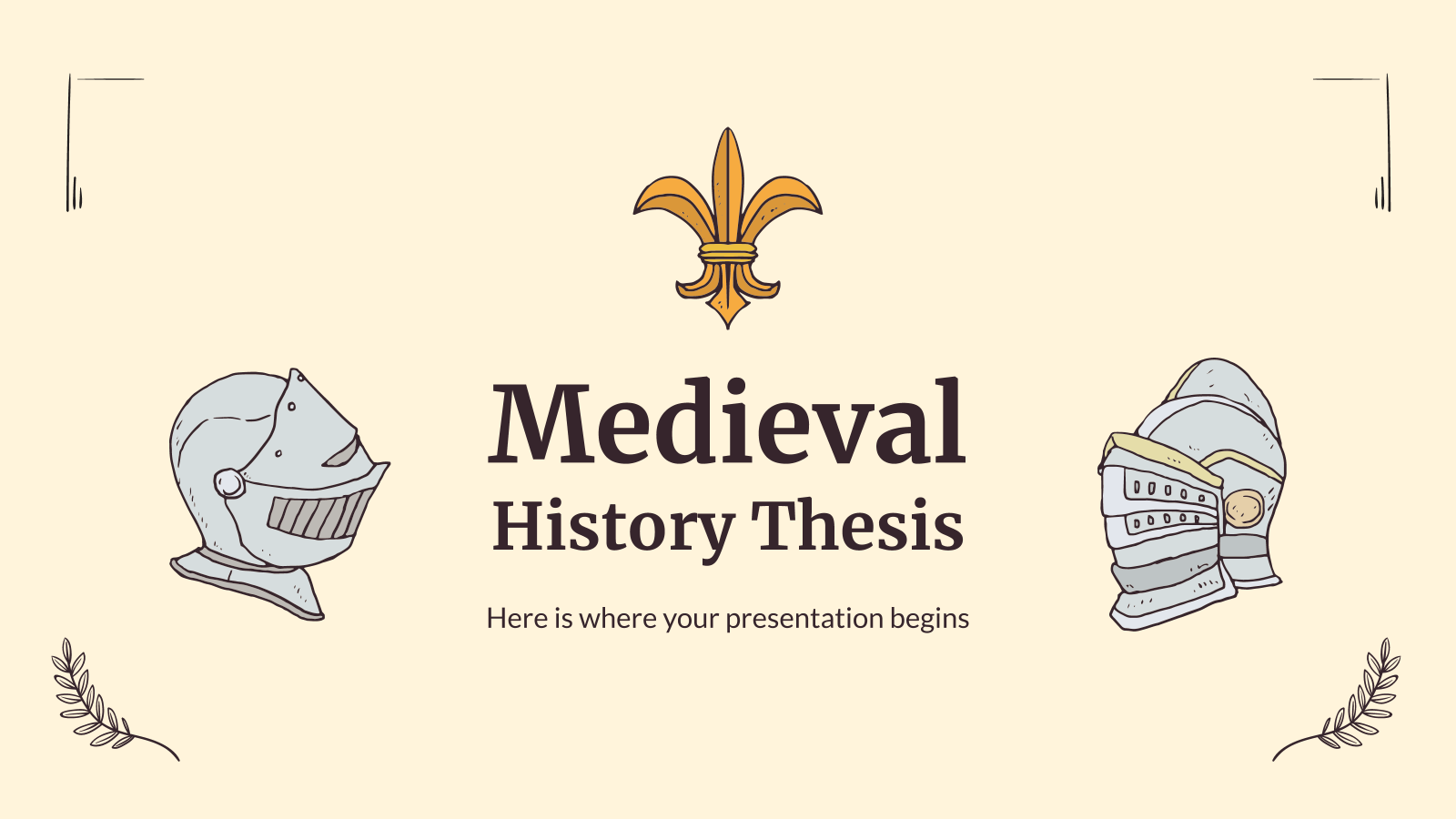 Medieval History Thesis presentation template