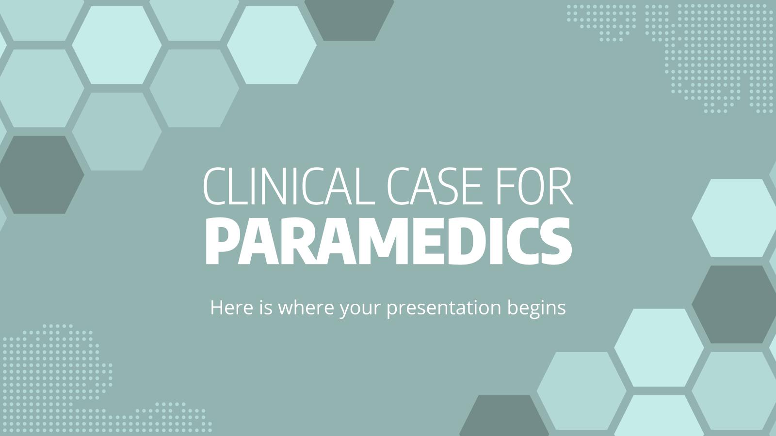 Cas clinique pour les ambulanciers : Modèles de présentation