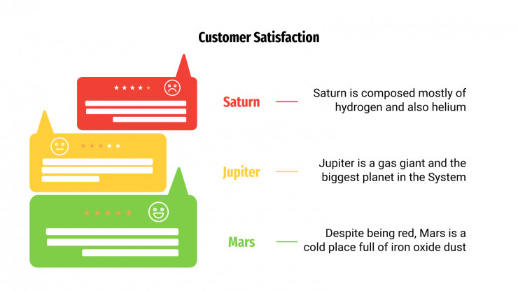 Customer Satisfaction Infographics presentation template