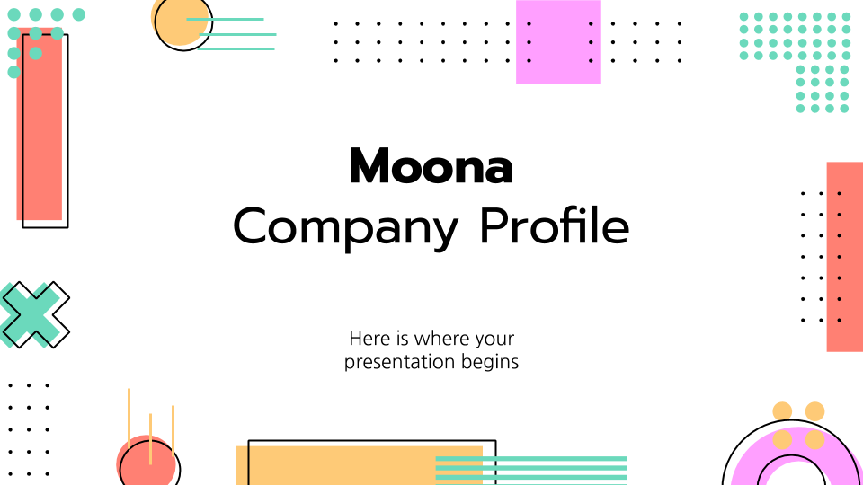 Moona Company Profile presentation template