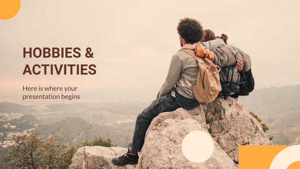 Hobbies and Activities presentation template
