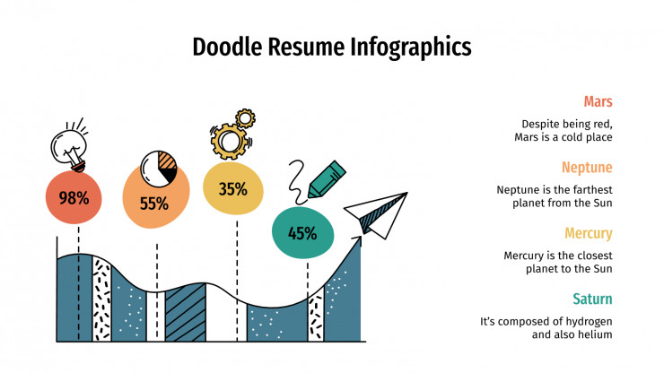 Doodle Resume Infographics presentation template