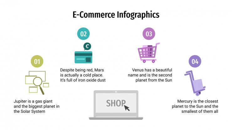 E-Commerce Infographics presentation template