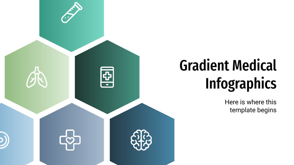 Gradient Medical Infographics presentation template