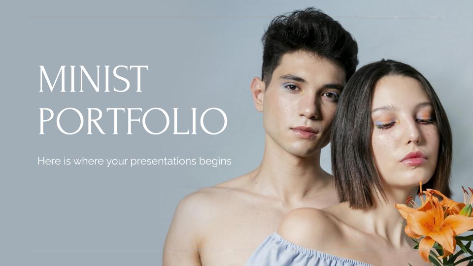 Minist Portfolio presentation template