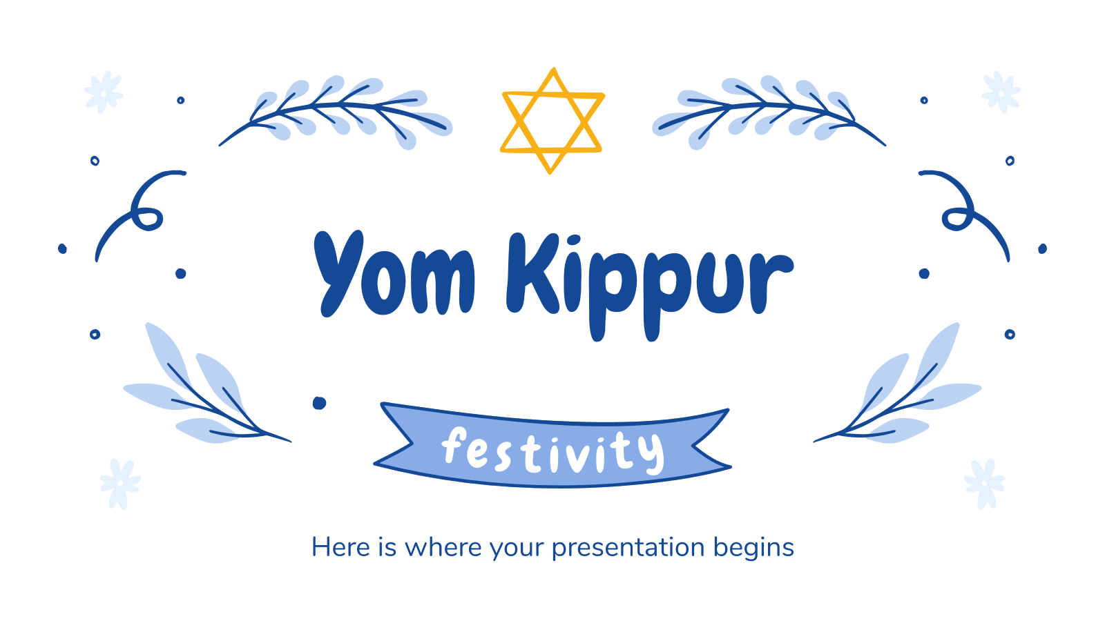 Yom Kippur Festivity presentation template