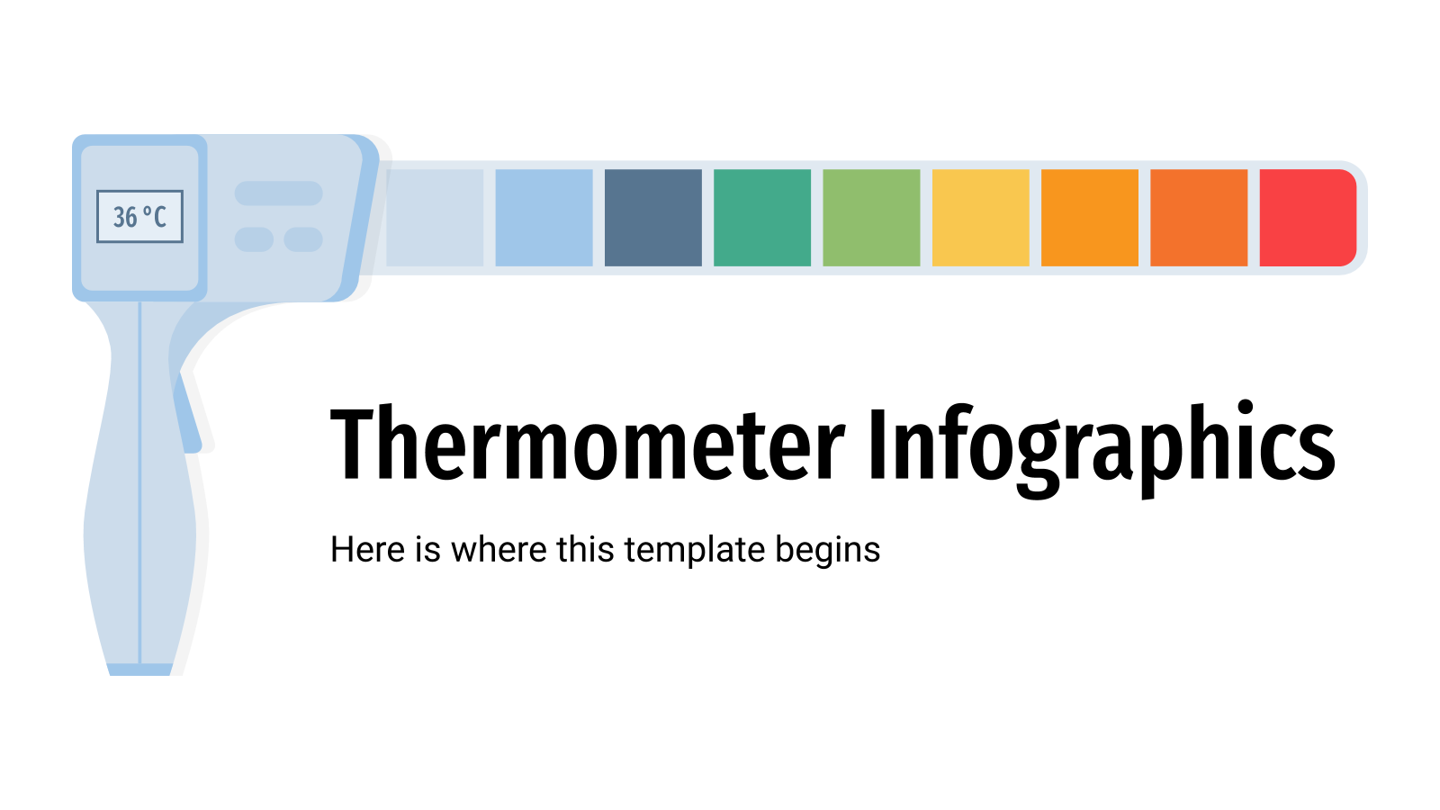 Thermometer Infographics presentation template