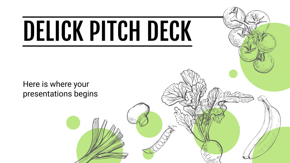 Delick Pitch Deck presentation template