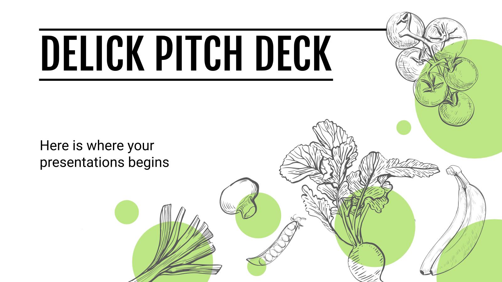 Plantilla de presentación Pitch deck Delick
