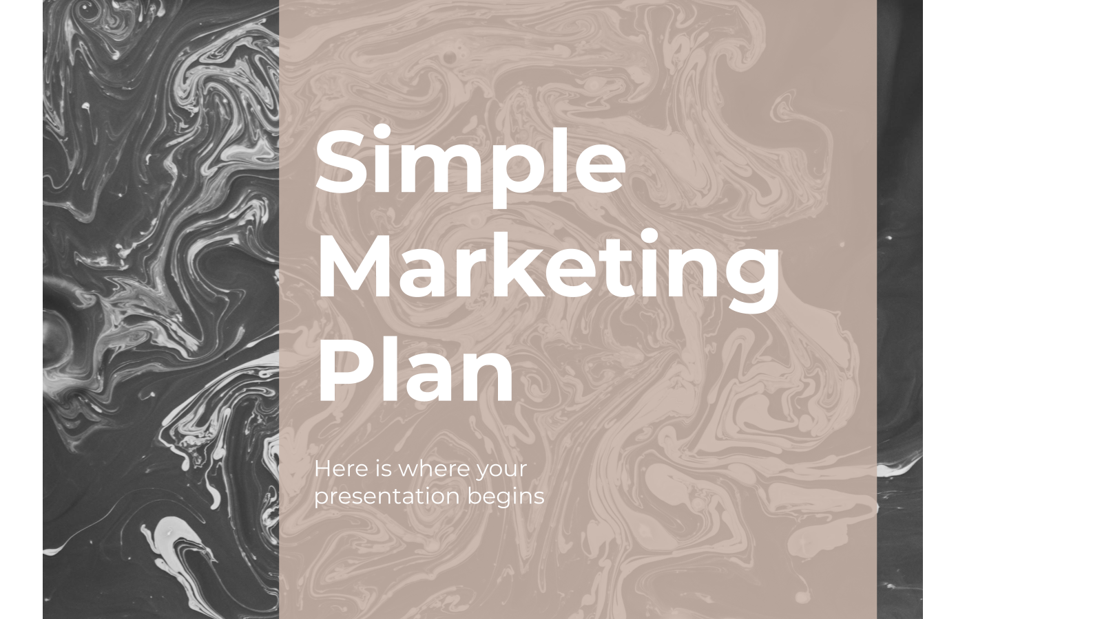 Simple Marketing Plan presentation template