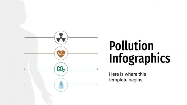 Pollution Infographics presentation template