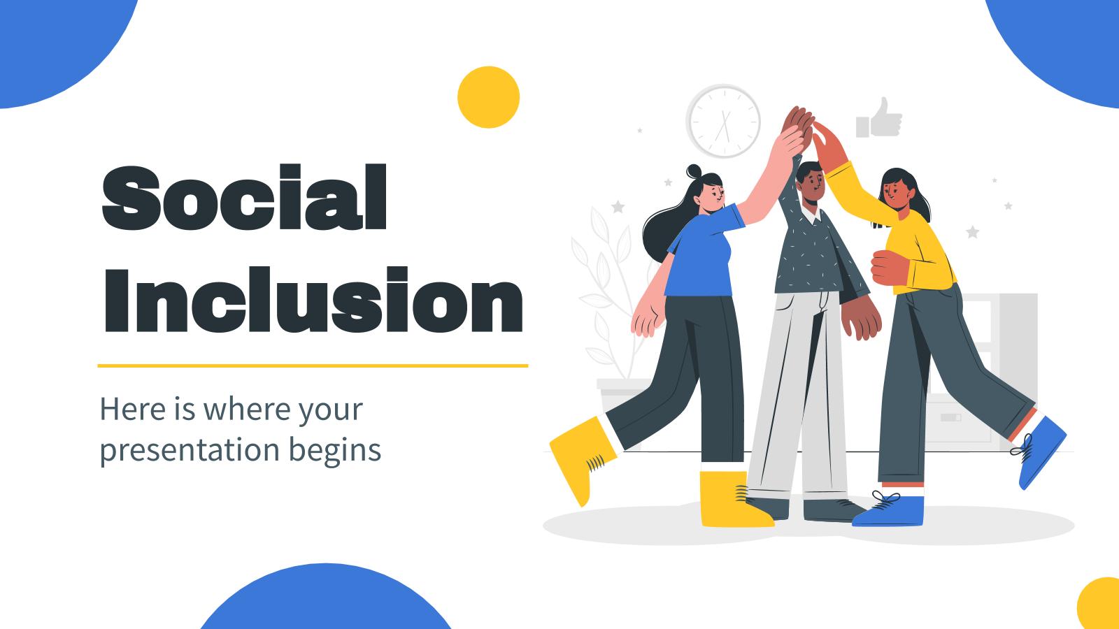 Modelo de apresentação Projeto de inclusão social