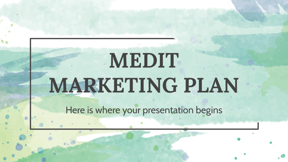 Medit Marketing Plan presentation template