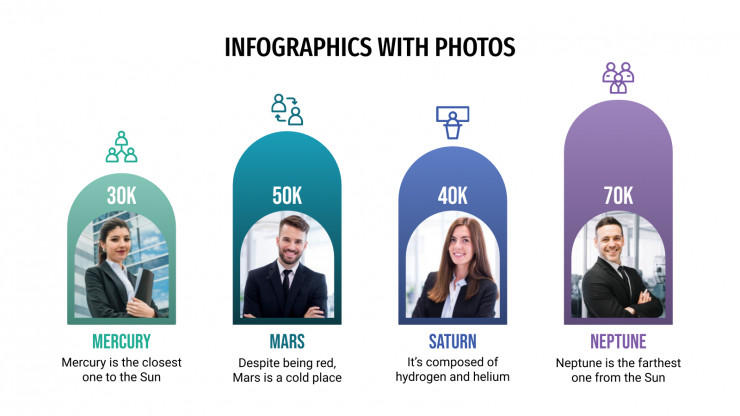 Infographics with Photos presentation template