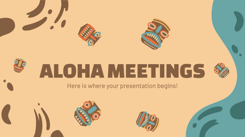 Aloha Morning Meetings presentation template