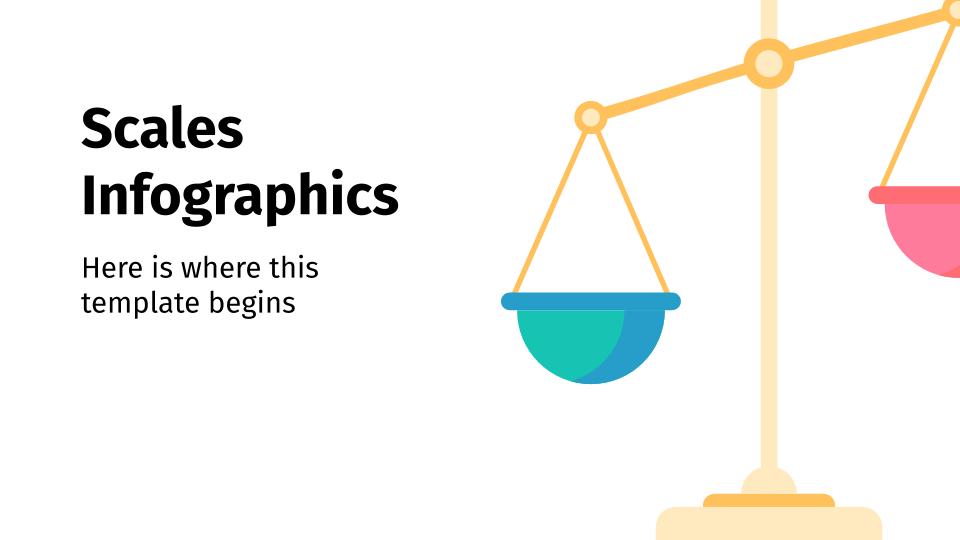 Modelo de apresentação Infográficos de balanças