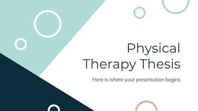 Thèse sur la thérapie physique : Modèles de présentation