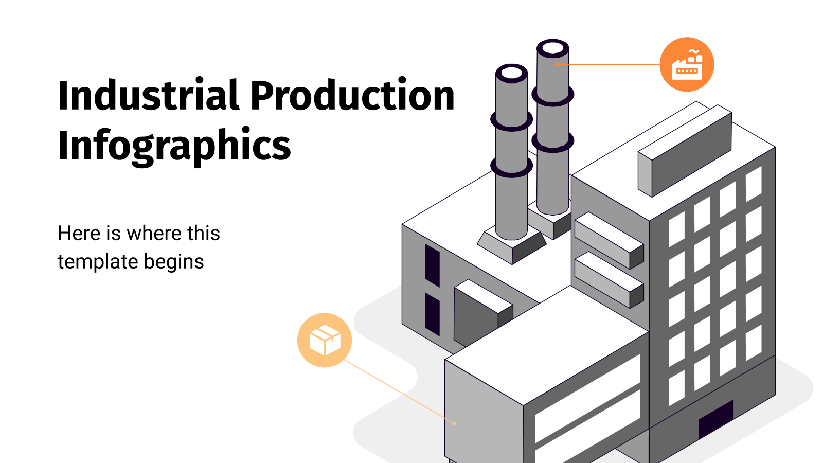Industrial Production Infographics presentation template