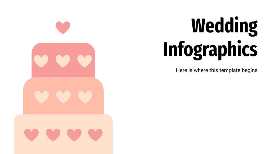 Plantilla de presentación Infografías para bodas