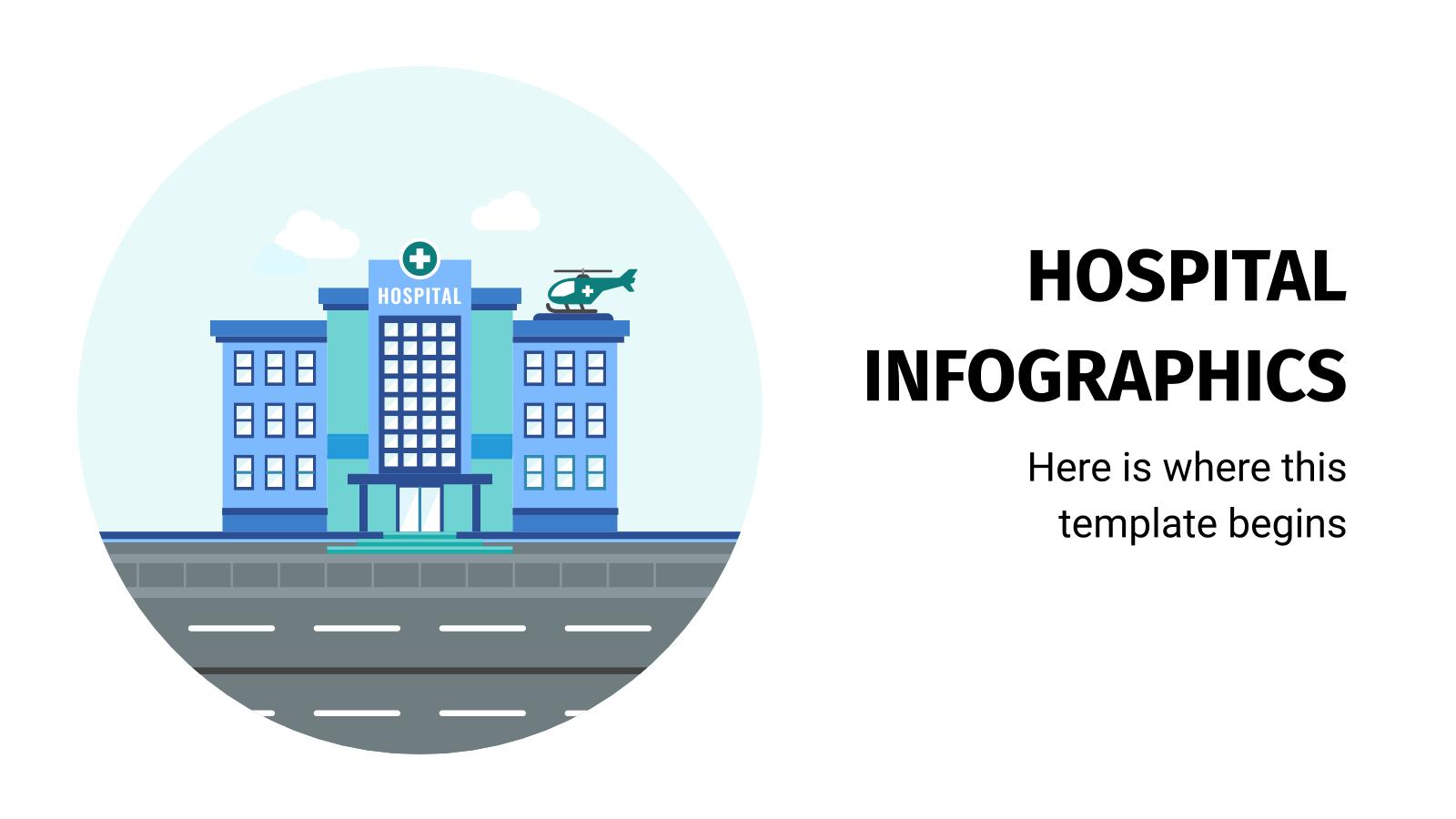 Plantilla de presentación Infografías de hospitales