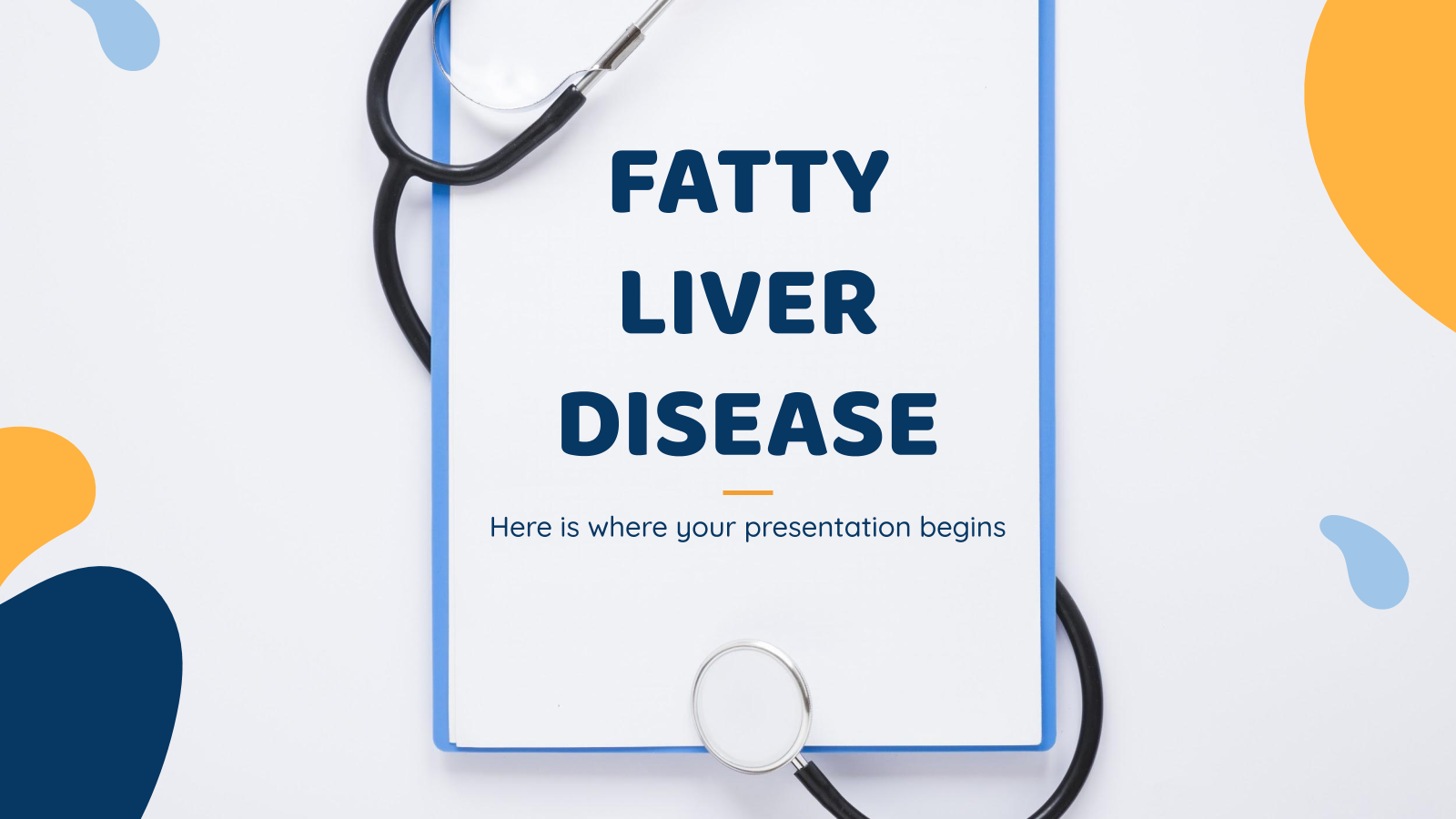 Fatty Liver Disease presentation template
