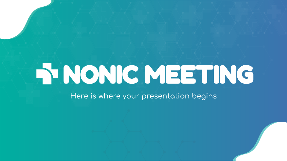 Nonic Meeting presentation template