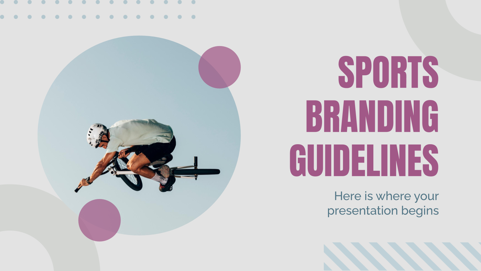 Sport Branding Guidelines presentation template