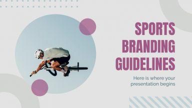 Modelo de apresentação Branding de marca esportiva