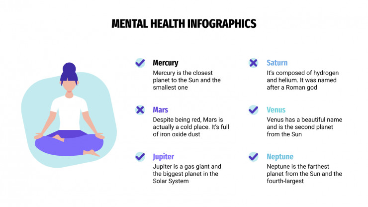 Mental Health Infographics presentation template