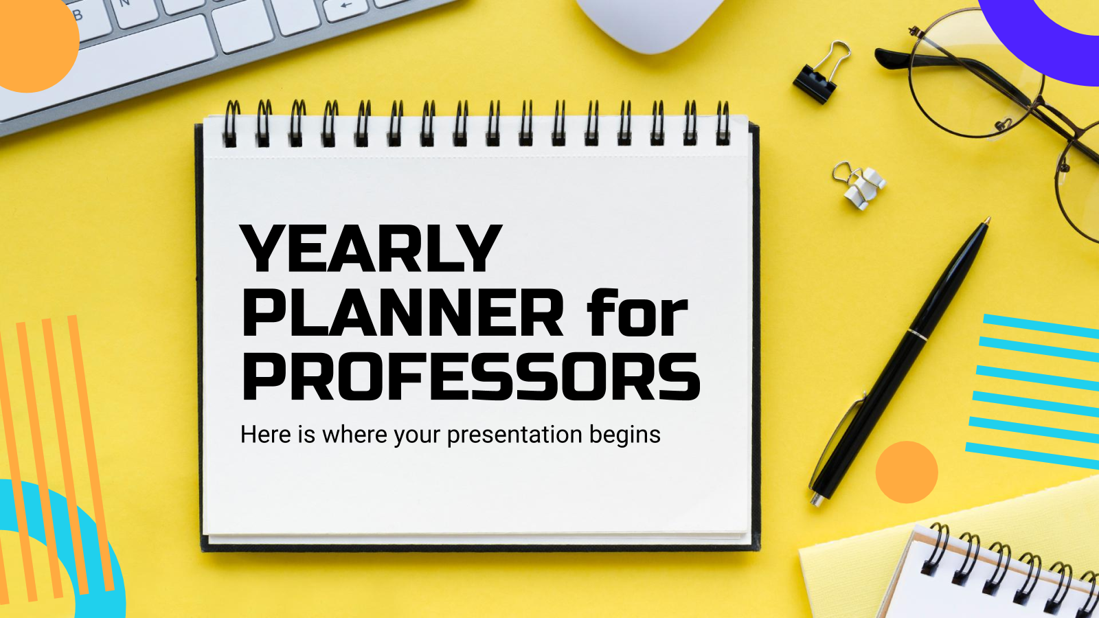 Yearly Planner for Professors presentation template