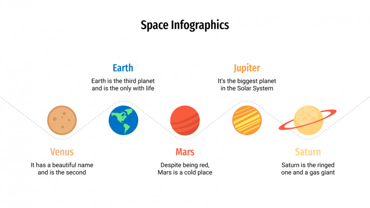 Space Infographics presentation template