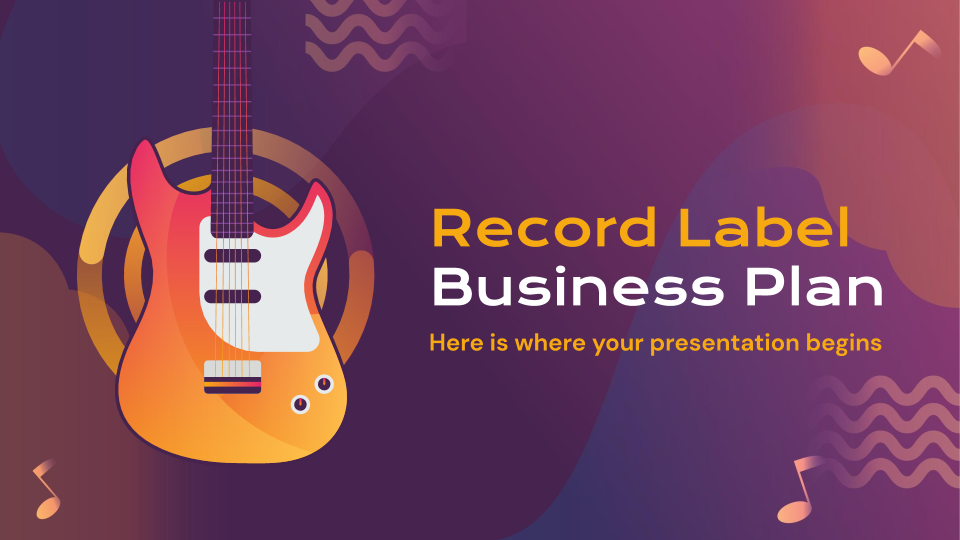 Record Label Business Plan presentation template