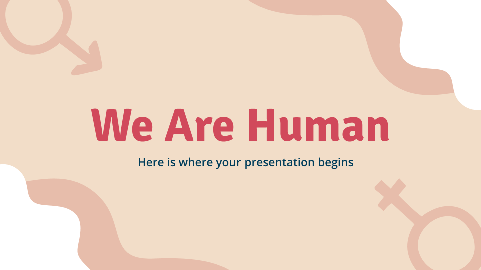 We Are Human presentation template