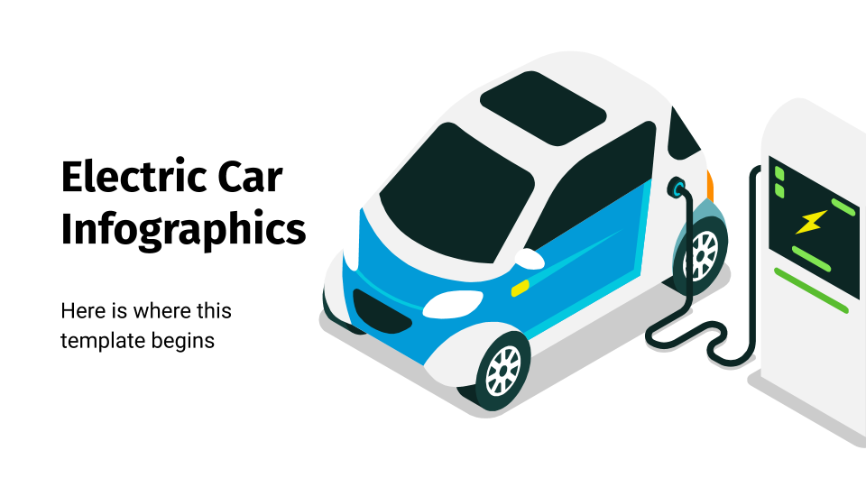 Electric Car Infographics presentation template