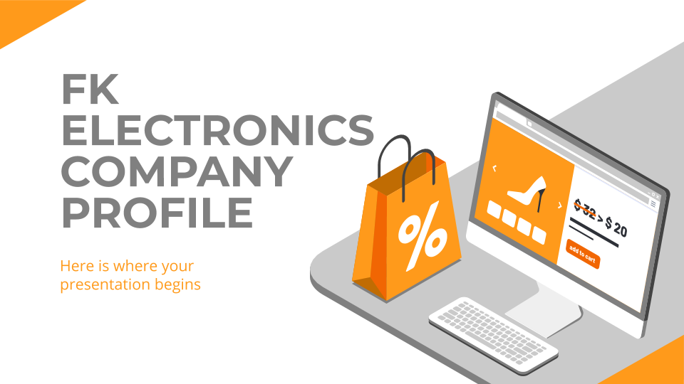 FK Electronics Company Profile presentation template