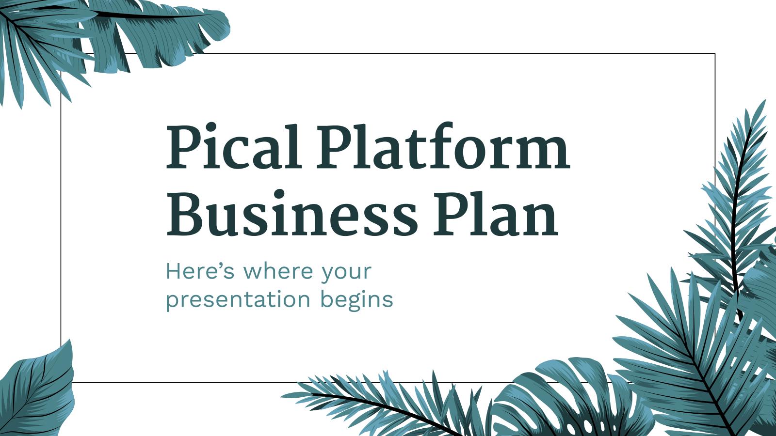Modelo de apresentação Plano de negócios para plataformas Pical
