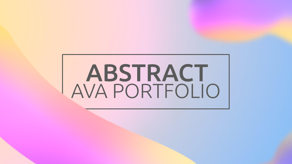 Abstract Ava Portfolio presentation template
