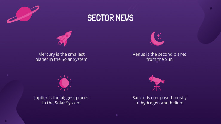 Modelo de apresentação Newsletter da Semana Espacial
