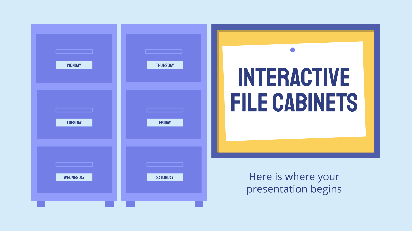 Interactive File Cabinets presentation template