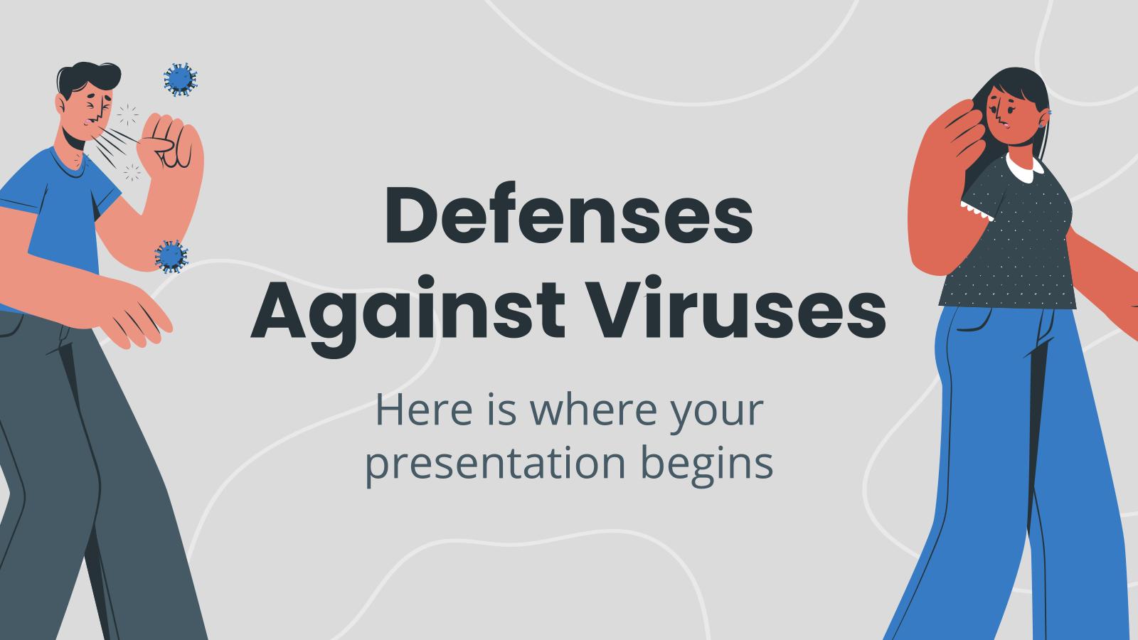 Plantilla de presentación Defensas contra los virus