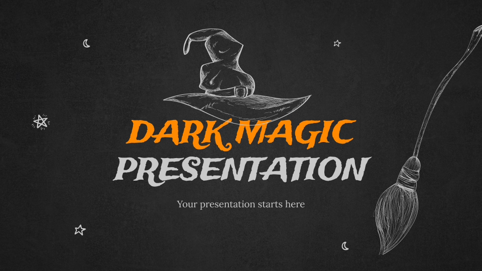 Dark Magic presentation template
