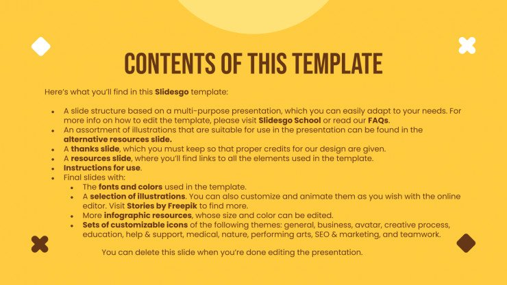 Jellow Yellow presentation template