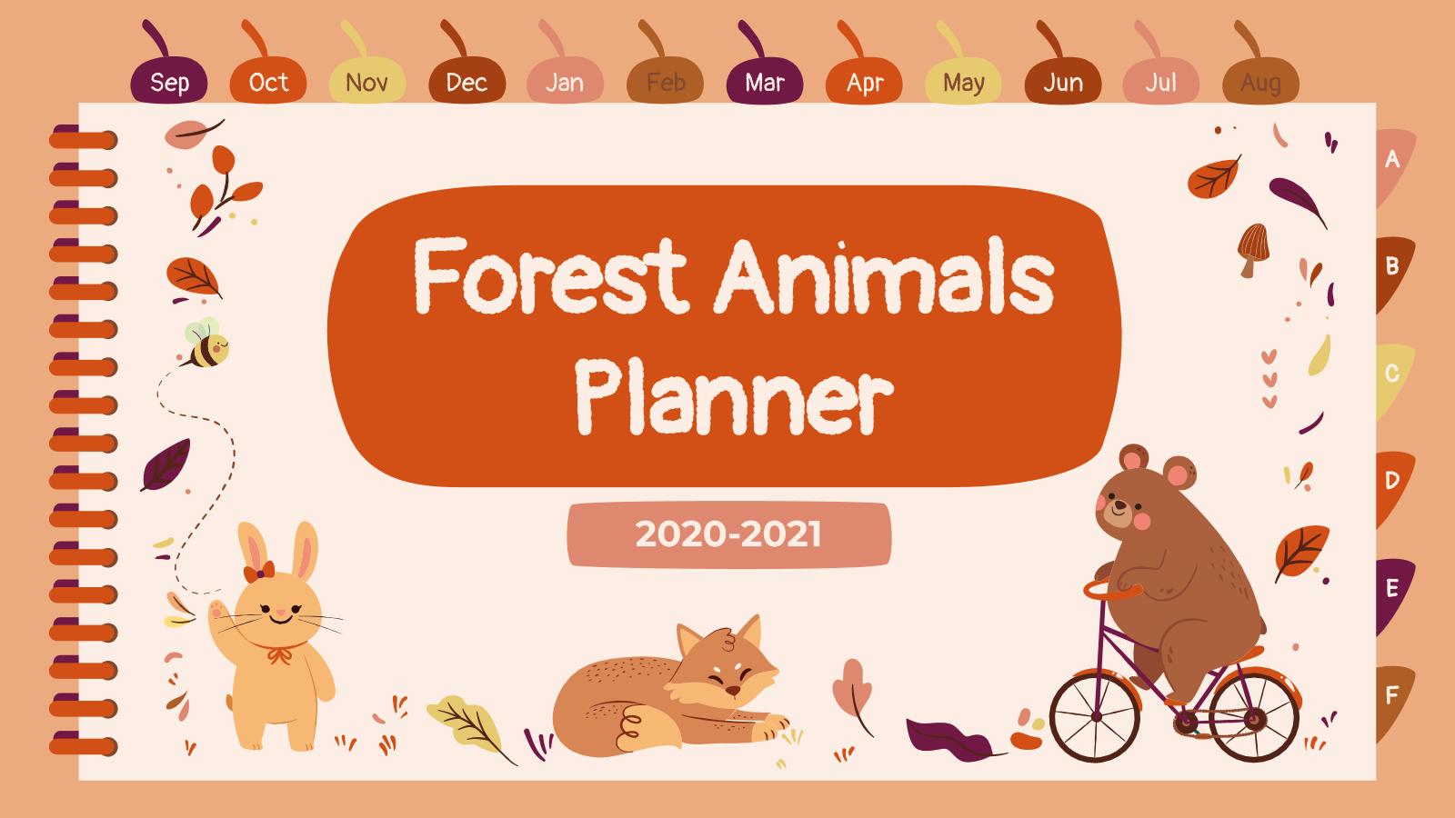 Forest Animals Planner presentation template