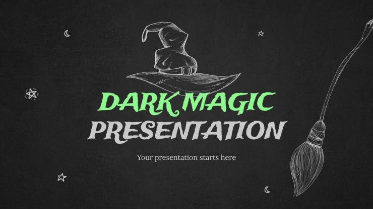 Plantilla de presentación Magia oscura