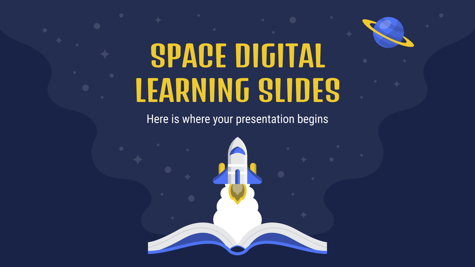 Space Digital Learning Slides presentation template
