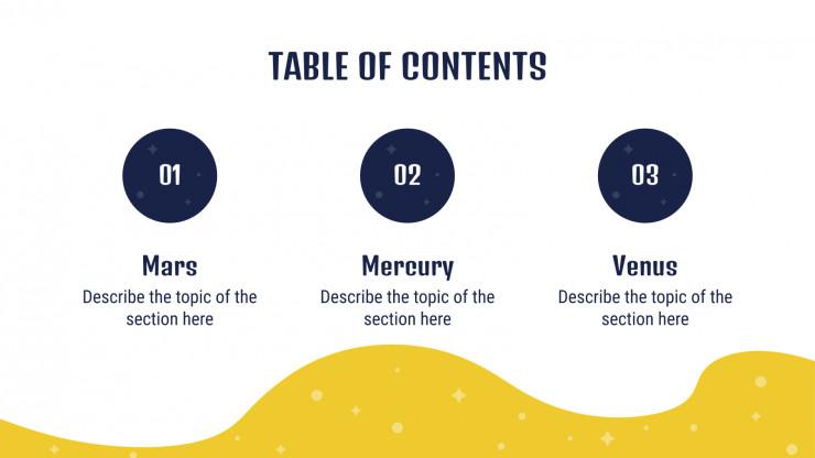 Diapositives sur l'apprentissage numérique dans l'espace : Modèles de présentation