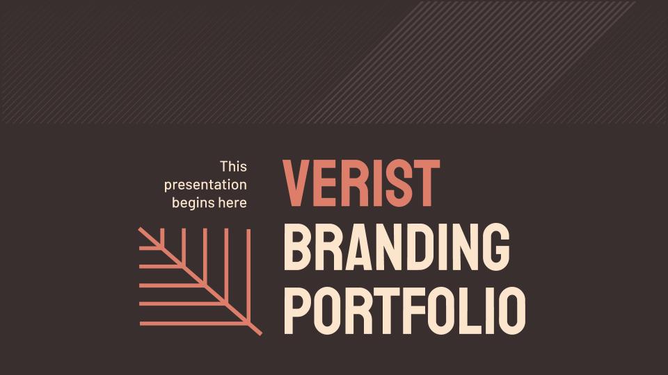 Modelo de apresentação Portfólio de branding Verist