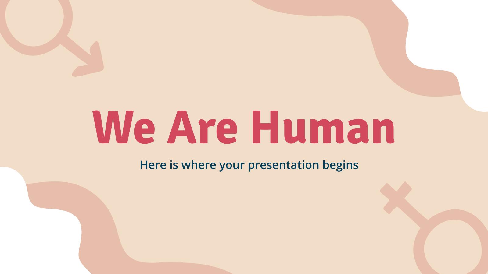 Modelo de apresentação Somos todos humanos