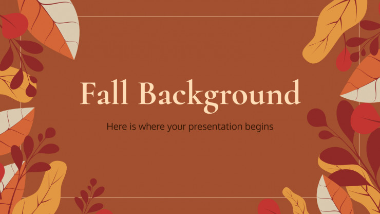 Fall Background presentation template